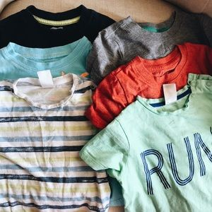 Six t-shirts 18 months bundle various brands